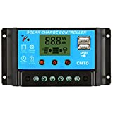 Galapara Intelligent Solar Panel Charge Controller Anself 20A 12.6V LCD Solar Charge Controller