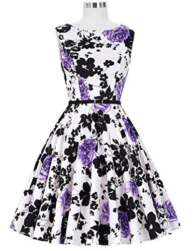 50s Rockabilly Kleid Festliches Kleid Partykleider Cocktailkleider GD6086 New CL6086-48