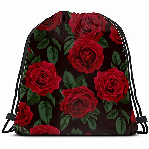 ature Rose Vintage Drawstring Backpack Gym Sack Lightweight Bag Water Resistant Gym Backpack for Women&Men for Sports,Travelling,Hiking,Camping,Shopping Yoga ()