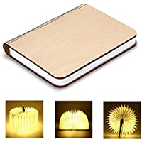 LED Livre Lampe GEEDIAR Lampe LED Pliante en Forme de Livre avec 2500mAh Batterie Lithium Lampe de chevet Veilleuse Lumieres Decoratives Lampes d'ambiance Dimension: 22*17*4CM (8.66*6.69*1.57Inch)