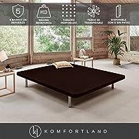 Komfortland Base tapizada 3D Force Medida 150x190 cm Patas 25 cm - Normales Color Marrón