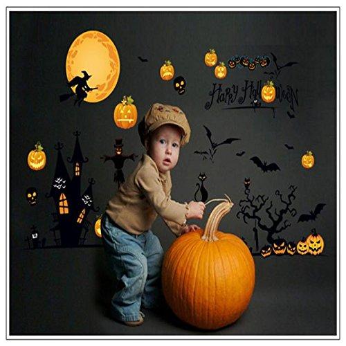 Zolimx Neue Halloween Geschenk Entfernbare Wandaufkleber Kunst Party Aufkleber Wandbild Zimmer Papier (Neue Animierte Halloween-dekoration)