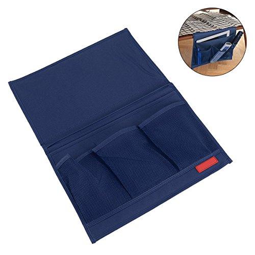 OUNONA Bett hängende Lagerung Tasche Zimmer am Krankenbett 4 Taschen Storage Bag Organizer Halter Hängeregal(blau)