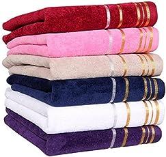 AKIN TOWEL Akin Multicolor Superior Velvet Cotton Hand Towels 550 Gsm Set Of 6 ( Length = 60 Cm, Width = 40 Cm )