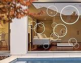 Fenstersticker No. 1180Kreise III 12S Set–Glas Fenster Film selbstklebend | Milchglas Film 5Farben Fenster Folie selbstklebend Sichtschutz Milchglas Badezimmer Farbe: frosted, Maße: 41cm x 60cm