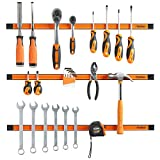 "VonHaus Set of 3x 24"" Extra Large Magnetic Strip Rail Bar Tool Spanner / Wrench / Chisel / Screwdriver Holder Rack Set – Garage WorkShop Essential - Does not include tools"