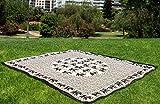 Mandala Playa Grande Toalla Dibujos 210x240 Suave casa (Blanco Negro)