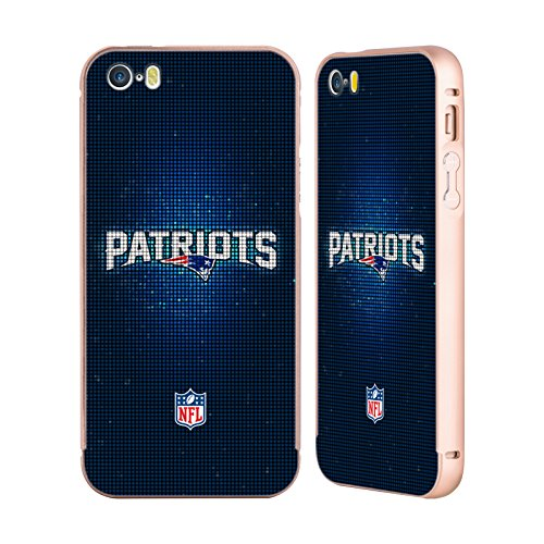 Ufficiale NFL LED 2017/18 New England Patriots Oro Cover Contorno con Bumper in Alluminio per Apple iPhone 5 / 5s / SE LED
