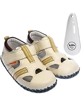 FREYCOO - Zapatos primeros pasos de Piel para niña Hueso marfil
