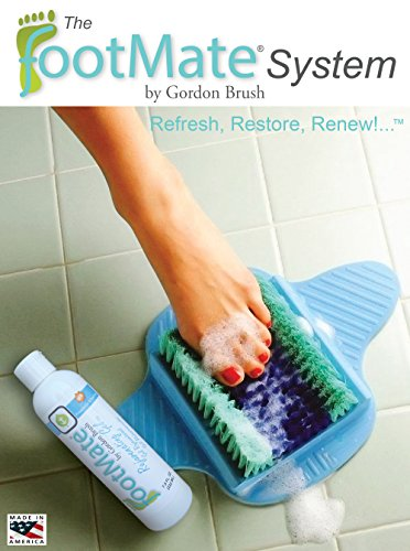 The FootMate System Foot Massager & Scrubber w/ Rejuvenating Gel, Blue by The FootMate System