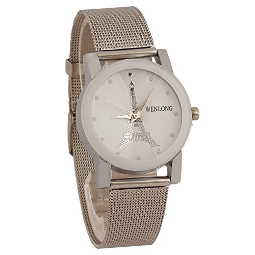 Swadesi Stuff Analogue White Dial Women' & Girl's Watch(Metal Paris White)