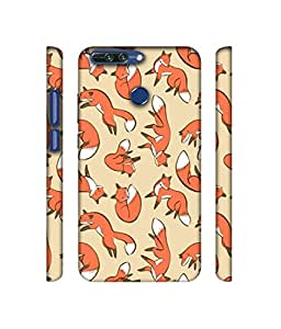 NattyCase Fox Pattern Design 3D Printed Hard Back Case Cover for Huawei Honor 8 Pro