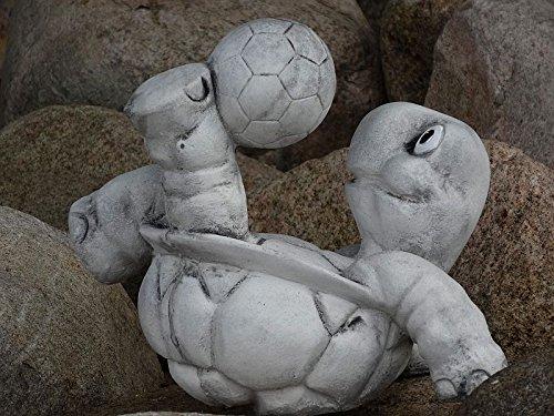 Steinfigur Nr.556 Fußball Schildkröte 11 Fussballspieler ca. 8 kg - 2