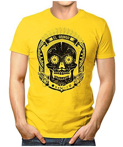 PRILANO Herren Fun T-Shirt - EL-GRINGO - Small bis 5XL - NEU Gelb