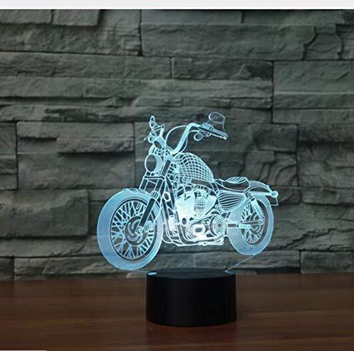 Cross-Country Motorrad 3D Nachtlicht 7 Farbwechsel Usb Tischlampe Weihnachtsatmosphäre 3D Lampe Geschenk Für Kinder Geschenk