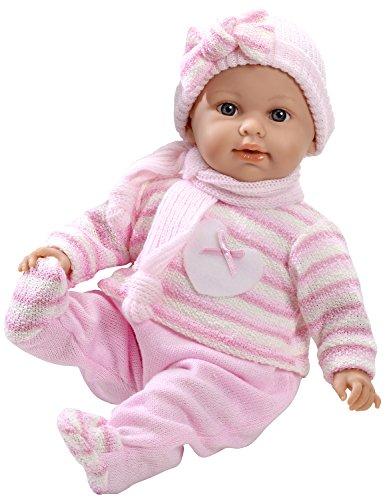 Arias - Muñeca bebé Elian, mecanismo lloro magnético, color rosa, 42 cm (65110)