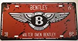 Vintage Style Walter Owen Bentley Retro METAL Wall Poster Sign Plaque Car Plate 30x15cm