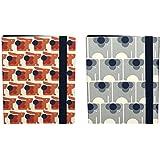 """Orla Kiely """"ELA Bonnie conejo y elefante diseños"""" Slim carpeta de anillas (Pack de 2)"""