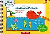 Mein erstes Schablonen-Malbuch: Fisch, Delfin und Seepferdchen (Mini-Künstler)