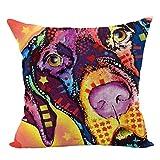 Couvre-oreillers au design unique Taie d'oreiller, housse de coussin de canapé tendance motif chien Hip Hop cool (couleur V) (Couleur : Color E)