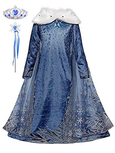 Yonier costumi bambina tulle diadema festa nuziale blu elsa fantasia principessa cosplay costume carnevale abito per bambino principessa natale partito compleanno carnevale abiti fantasia vestite