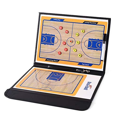 Basketball Coaching Board 2,5-Fach Faltbare Strategie-Lehr-Zwischenablage mit Trockenlösch- und Markierungsstift
