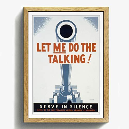 BIG Box Art Eiche, gerahmt, A2Print 62,2x 45,7cm (62x 45cm) Vintage WPA Poster Let Me Do The Talking,