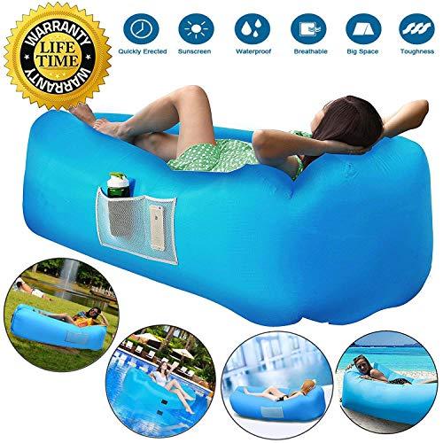 JOURLOVE Sofa Hinchable del Aire del Ocioso de Playa,Portable para Viajar, Acampar,...