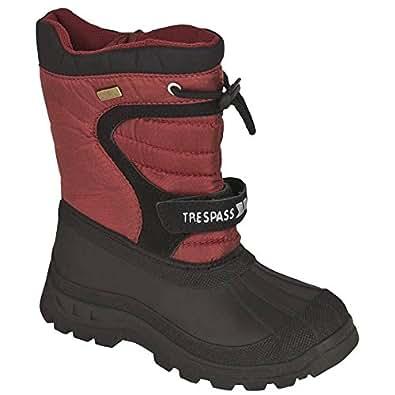 Trespass Huskie Childrens Lined Waterproof Boot (12, Red)