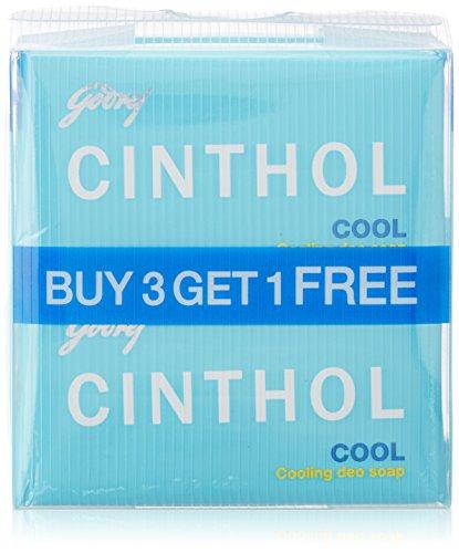 Cinthol Cool Soap, 125g x 3 + 125g Free