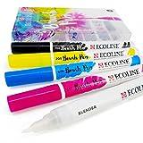 Royal Talens Ecoline liquide aquarelle Dessin Peinture Brosse stylos–Lot de 5en plastique Portefeuille
