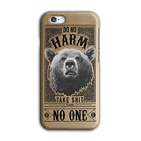 Loin Ours Citation Slogan Sauvage Animal 3D iPhone 6 / 6SÉtui Pour | Wellcoda