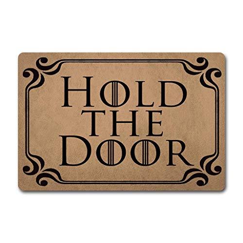 FamousBlue Lustig personalisierte Fußmatte für Innen - und Tor anpassen (hold The Door)
