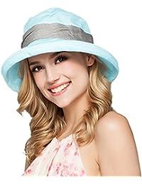 Mujeres Moda Verano Sombrero de Playa Copa Fieltro Gran Ala Anti-UV Gorro del Sol Plegable