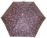 Radley - Ombrello telescopico da donna, motivo speciale con cani e pois color oro rosa su sfondo color carbone