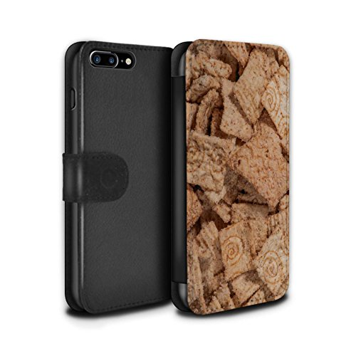 Stuff4 Coque/Etui/Housse Cuir PU Case/Cover pour Apple iPhone 7 Plus / Grahams de Cannelle Design / Céréale Collection Grahams de Cannelle
