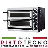 Forno Pizza elettrico PROFESSIONALE 2 camere. Capacità 2 pizze Ø 32 cm. Kw. 2.4 - PORTA VETRO