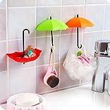 #7: Inditradition Multipurpose Wall Hook, Stylish Umbrella Shape, 3 Pc, Assorted Color
