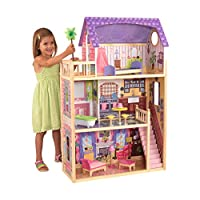 KidKraft 65092 Kayla Wooden Dolls House with Furniture and Accessories Included, 3 Storey Play Set for 30 cm /12 Inch Dolls