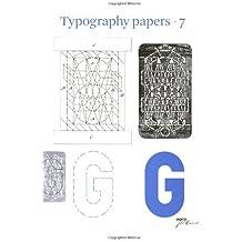 Typography Papers: Number 7 (vol. 7) by Hendrik D.L. Vervliet (2007-10-04)