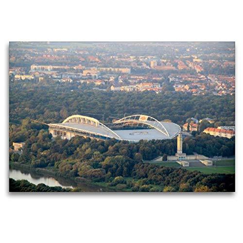 Calvendo Leinwand Stadion - Red Bull Arena von Leipzig 120x80cm, Special-Edition Wandbild, Bild auf Keilrahmen, Fertigbild auf hochwertigem Textil, Leinwanddruck, kein Poster