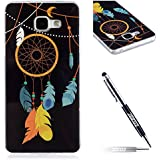 JAWSEU Coque pour Samsung Galaxy A5 2016,Samsung Galaxy A5 2016 Silicone Etui Ultra Slim,Samsung Galaxy A5 2016 Soft Cover Proective Case,2017 Neuf Design Noctilucent Flash Funny Pattern Femme Homme TPU Case Ultra Mince Doux Gel Etui Flexible Souple Coque en Silicone Transparent Caoutchouc Bumper Protecteur Housse Etui+1*Noir Stylo Paillettes-campanule