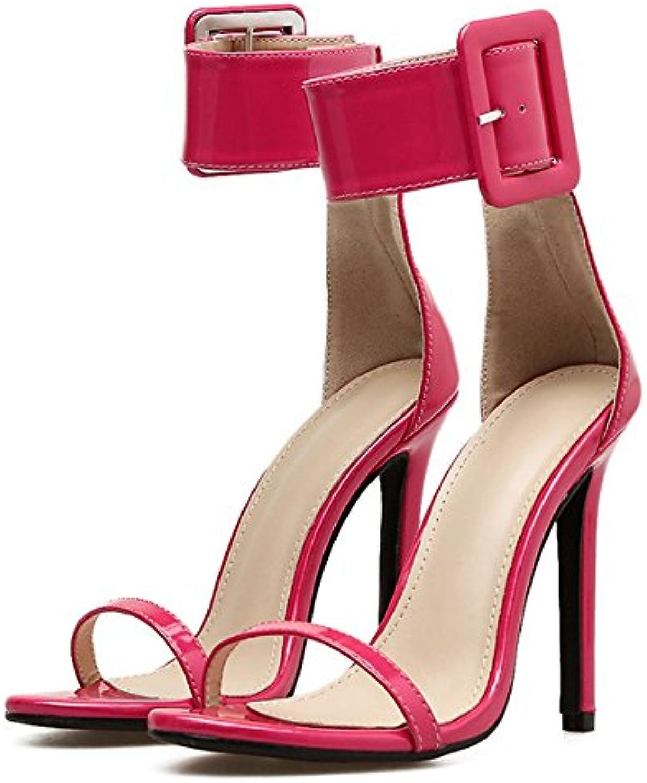 Frauen Stiletto Sandalen Sexy Knöchelriemen Schnalle Stiletto Frauen High Heels Sexy Abend Pumps Damen Hochzeit Offene Spitzeö e5b46e