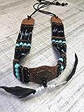 Indianerschmuck, Brustpanzer Knochen Indianer Chokker War-bonnet-Federhaube-Braslet Little Big Horn Miss Java Collection Chain Real Bone Indian New Collection 2017 Little Big Horn