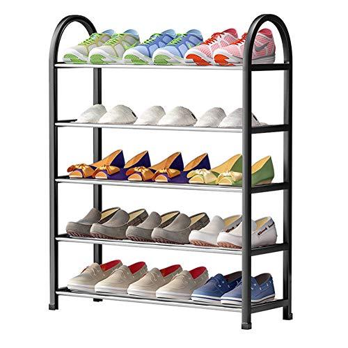 Platzeinsparung Shoe Rack,eingangsbereich Lagerung Solide Und Stabile Schuhregal Aufbewahrungs Ständigen Kompakt Regale Für Schuhe-schwarz 58x19x70cm(23x7x28inch)