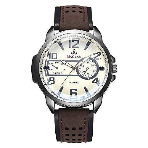 Armbanduhr männer Liusdh Uhren Outdoor-Legierung Zifferblatt blau Uhrengehäuse hohle Leaderband Persönlichkeit Kunst digitale Sportuhr(A,Einheitsgröße)