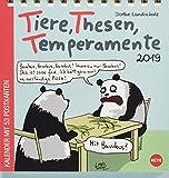 Landschulz Tiere,Thesen,Temperamente Aufstell-Postkartenkalender - Kalender 2019