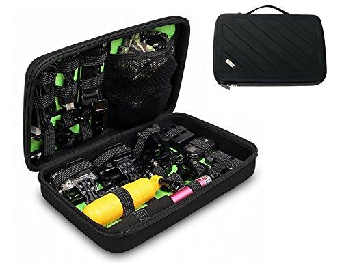 Grid-it Organizer (BUBM Organizer Elektronik Kabel Case Reise Tasche Grid It Reise Tragetasche Vape Bag Travel Action Cam Gopro Zubehör Aufbewahrungsbox Schwarz M)
