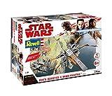 Revell Build & Play - Star Wars Poe's Boosted X-wing Fighter - 06763, Maßstab 1:78, originalgetreue Nachbildung mit beweglichen Teilen, mit Light&Sound Effekten, robust zum Spielen