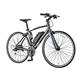 Incontro Assist Electric Bicycl 36V 8.7Ah Lithium-Ion Battery, 16 Speed, Matte Blue Grey